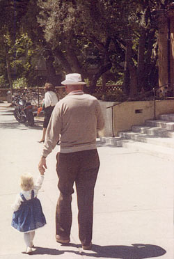 Ed and his granddaughter, Laura 1986