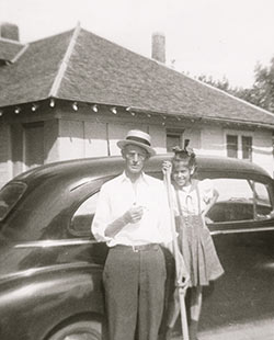 Nancy Jane Tipps and Uncle Tom, circa 1940